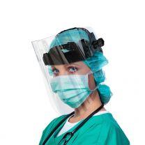 Gesichtsschutz, hochklappbar, mit klarer Polycarbonat Scheibe