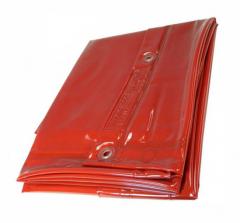 Schutzvorhang orange, BxH 130x200cm